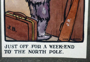 SCOTTISH ART: Charles Rennie Dowell ( 1867 - 1935). Four Little Watercolour Illustrations Relating to the Race for the North Pole in 1909