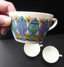 Load image into Gallery viewer, 1960s NORWEGIAN CLUPEA (Herring) Design by Turi for Figgjo Flint. SPARES Three Large Tea Cups