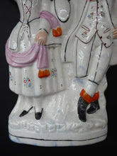 Load image into Gallery viewer, LARGE Antique STAFFORDSHIRE Figurine of a Country Couple who have been harvesting; Height 12 1/2 inches