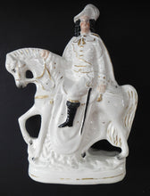 Load image into Gallery viewer, Antique Victorian STAFFORDSHIRE Figurine. Man on Horseback; 11 inches