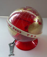 Load image into Gallery viewer, Original 1960s Issue Money Bank in the Form of a World Globe. Made in Finland for Edinburgh Savings Bank