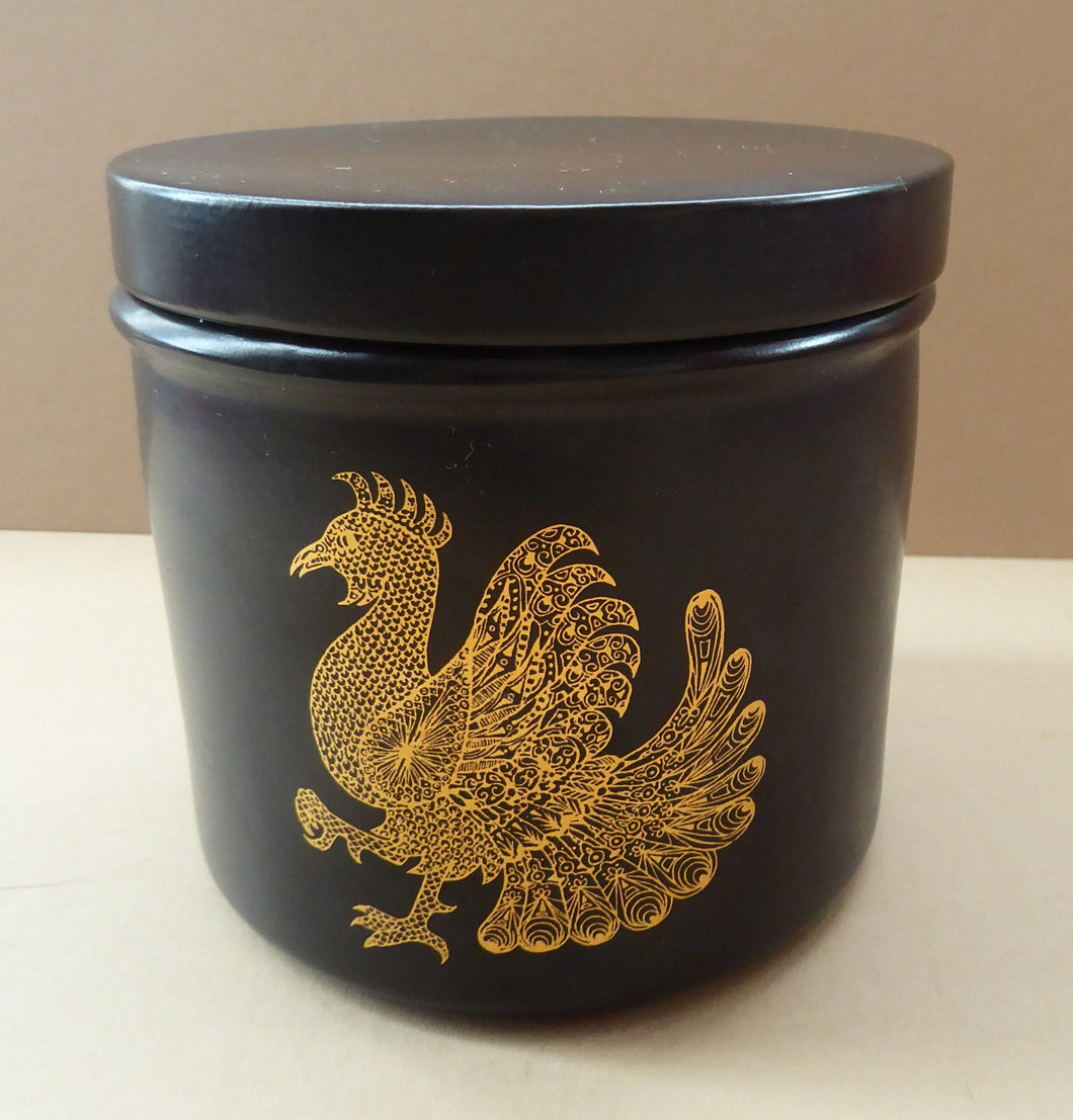 1960s PORTMEIRION Phoenix Pattern Lidded Canister by John Cuffley. Very rare item in this range