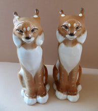 Load image into Gallery viewer, Vintage RUSSIAN USSR Lomonosov Porcelain Lynx or Wild Car Figurine. 8 1/4 inches in height