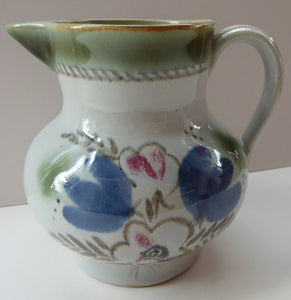 SCOTTISH POTTERY; Vintage BUCHAN, Portobello Pottery Stoneware Jug or Pitcher. 6 3/4 inches in height