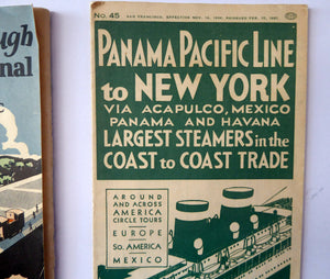 "1920s PANAMA CANAL Souvenir Guide.  ""My Trip Through the Panama Canal from the Atlantic to the Pacific """