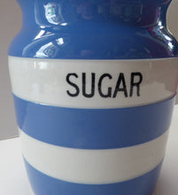 Load image into Gallery viewer, 1930s Cornishware Storage Jar: Sugar