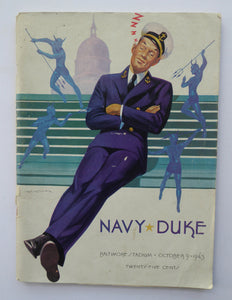 1943 US College Football Game Programme Navy vs Duke NCAA. Baltimore Stadium. Rare Publication