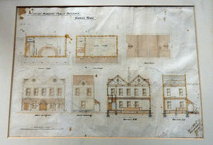 1902 Drawing. Interesting Sheet of Architectural Studies for Colonial Houses at the Island of Grand Turk