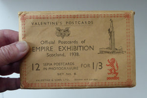 1930s EMPIRE EXHIBITION GLASGOW Souvenir Envelope Set of 12 Postcards (with 4 extra tipped in)