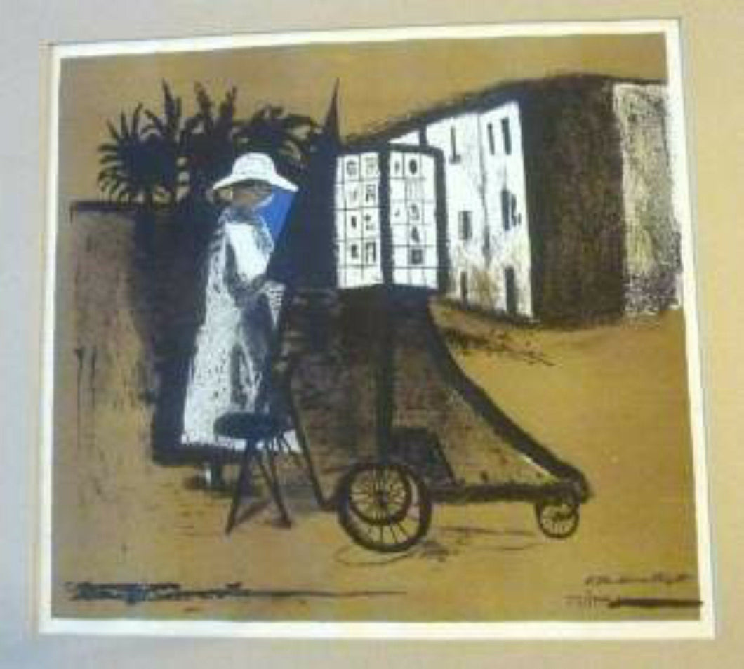 SCOTTISH ART: Robert Henderson Blyth (1919- 1970). Spanish Camerawoman. Colour lithograph on paper