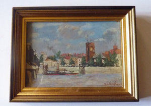 R.J. Abraham. Two Late 19th Century Views of CHELSEA. Both Oil Paintings on Panel