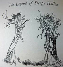 Load image into Gallery viewer, 1928: ARTHUR RACKHAM Illustrations. Rare Copy of The Legend of Sleepy Hollow