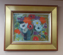 Load image into Gallery viewer, SCOTTISH ART. David McClure (1926 – 1998). Oil Painting on Paper. Flowers IV.  Signed and dated 1992