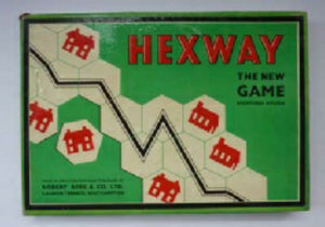 1940s Vintage Hexway Board Game. Very Rare British Puzzle / Board Game
