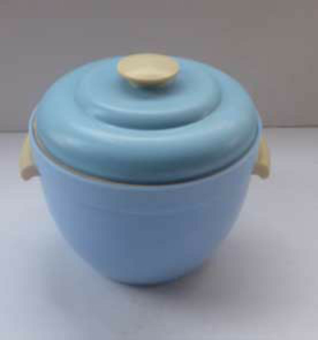 1950s Thermos Art Deco Style Blue Ice Bucket