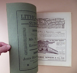 RARE 1905 ART MAGAZINE. The Modern Lithographer. Published London June 1905; Includes Genuine Art Nouveau Lithograph