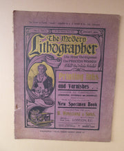 Load image into Gallery viewer, RARE 1905 ART MAGAZINE. The Modern Lithographer. Published London January 1905; Includes Genuine Art Nouveau Lithograph