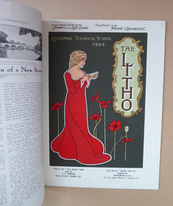 RARE 1905 ART MAGAZINE. The Modern Lithographer. Published London January 1905; Includes Genuine Art Nouveau Lithograph