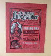 Load image into Gallery viewer, RARE 1905 ART MAGAZINE. The Modern Lithographer. Published London April 1905; Includes Genuine Art Nouveau Lithograph
