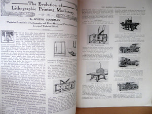 RARE 1905 ART MAGAZINE. The Modern Lithographer. Published London April 1905; Includes Genuine Art Nouveau Lithograph