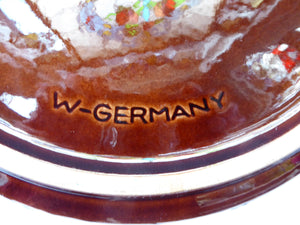 WEST GERMAN SCHEURICH Large Shallow Bowl with Fat Lava Glaze to Exterior. Model 342-28