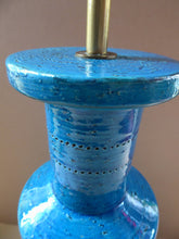 Load image into Gallery viewer, Large Vintage 1960s Rimini Blu BITOSSI Table Lamp: With painted Italy signature to the base