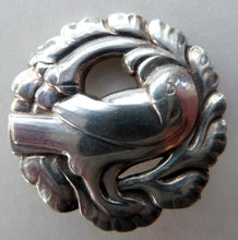 Load image into Gallery viewer, Vintage Danish GEORG JENSEN Sterling Silver Bird / Dove Brooch.  Complete with Original Box