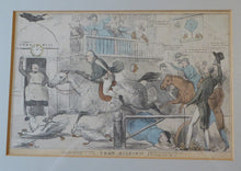"Load image into Gallery viewer, Antique SATIRICAL PRINT, 1831. ""John Gilpin"" by John Doyle. Lithograph published by Thomas McLean"