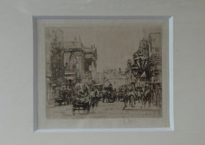 LISTED ARTIST. William Walcot (1874 - 1943). Etching of Covent Garden and the Royal Opera House, 1915. Pencil Signed