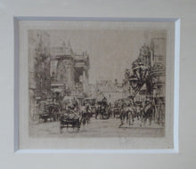 Load image into Gallery viewer, LISTED ARTIST. William Walcot (1874 - 1943). Etching of Covent Garden and the Royal Opera House, 1915. Pencil Signed