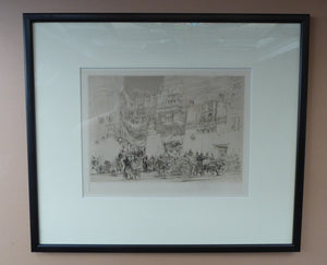 "LISTED ARTIST. William Walcot (1874 - 1943). ""Decadence of the Roman Empire"". Original ETCHING 1925. Pencil Signed"