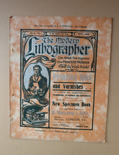 Load image into Gallery viewer, RARE 1905 ART MAGAZINE. The Modern Lithographer. Published London Sept 1905; Includes Genuine Art Nouveau Lithograph