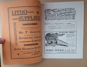 RARE 1905 ART MAGAZINE. The Modern Lithographer. Published London Sept 1905; Includes Genuine Art Nouveau Lithograph