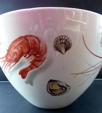 Load image into Gallery viewer, FIGGJO FLINT LARGE Norwegian Seafood or Prawn Salad Serving Bowl 1950s