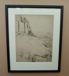 SCOTTISH ART. Ernest Stephen Lumsden. Etching entitled: Fort and City. Pencil Signed; 1914