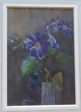 Load image into Gallery viewer, SCOTTISH ART: Kate Cameron (1874- 1965). Beautiful Original Watercolour. Still Life Featuring Blue Daisies in a Vase. SIGNED