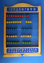 Load image into Gallery viewer, Vintage 1950s CHAD VALLEY Abacus - Wooden Frame and Beads. Free Standing. Great Display Piece