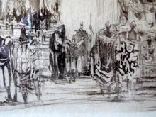 "Load image into Gallery viewer, LISTED ARTIST. William Walcot (1874 - 1943). ""Decadence of the Roman Empire"". Original ETCHING 1925. Pencil Signed"