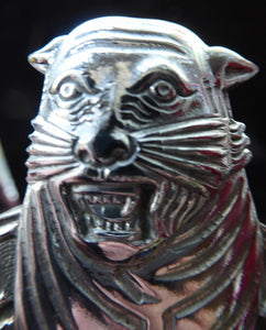 Very Rare 1930s Automobile Association of Bengal (India) Car Badge - with Tiger Motif. Excellent Vintage Condition