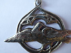 1920s IONA Scottish Silver Pendant. Hallmarked Glasgow 1923. John McGilvray & Son after ALEXANDER RITCHIE