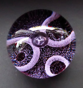 SCOTTISH GLASS. 1981 Vintage Caithness Paperweight Entitled Lunar III. From a Limited Edition of only 750 issued