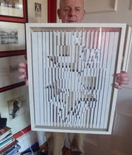 Load image into Gallery viewer, 1960s Original VICTOR VASARELY Artwork; Published by the Wild Hawthorn Press in Scotland. Original Frame