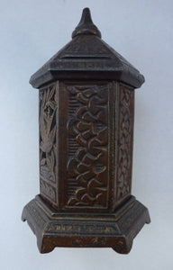 Antique Money Box or Savings Bank. Rare CAST IRON VICTORIAN Example by Chamberlain & Hill