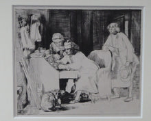 Load image into Gallery viewer, SCOTTISH ART. David Wilkie. The Lost Receipt. Original etching and drypoint on paper; c 1824. Gilt Frame