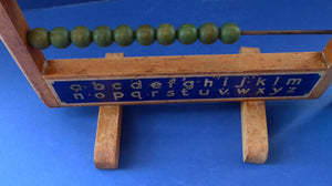 Vintage 1950s CHAD VALLEY Abacus - Wooden Frame and Beads. Free Standing. Great Display Piece
