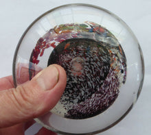 Load image into Gallery viewer, SCOTTISH STUDIO GLASS. Discus Shaped Paperweight with Abstract Swirls. Designed by Jane Charles