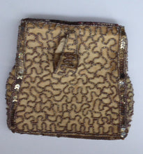 Load image into Gallery viewer, Pretty Little Vintage Sequinned Evening Purse. Made in Belgium: 1940s