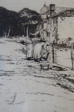 Load image into Gallery viewer, Rare Signed ETCHING by Percival Gaskell (1868 - 1934). View on the Torcello Island, Venice; c 1921