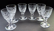 Load image into Gallery viewer, Set of Six Vintage WEBB CRYSTAL Tiny Liqueur Glasses. Matching Set of Six. Signed on the base