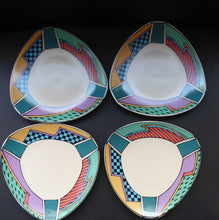 Load image into Gallery viewer, ROSENTHAL Flash One Pattern Studio Linie Side Plates. Designed by Dorothy Hafner, 1980s 7 1/2 inches diameter